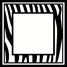 Zebra Frame Wall Sticker Vinyl Decal The Wall Works