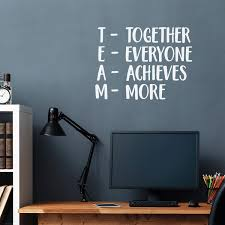 Amazon Com Together Everyone Achieves More Team Inspirational Wall Quotes 30 X 22 Wall Art Decal Decoration Vinyl Sticker Peel Off Stickers White Arts Crafts Sewing