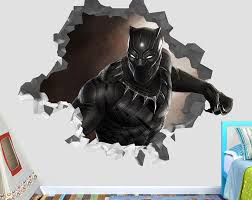 Black Panther Wall Decal Sticker Movie Kids Vinyl Wall Decor Etsy Wall Decal Sticker Sticker Decor Wall Decals