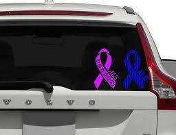 Als Awareness Ribbon Car Decal Car Decal For Women Decal For Awareness Laptop Decal Sticker Yeti Tumbler Cup Decal Disease Car Decal Laptop Decal Stickers Car Decals Custom Car Decals