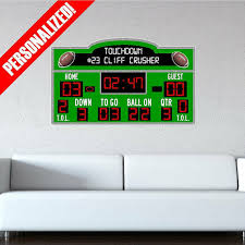 Personalized Scoreboard Football Wall Decal Sticker Removable Wall Art Sports For Sale Online