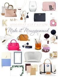 monogram gift guide best personalized