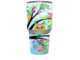 Skin Decal Vinyl Wrap 6 Piece Kit For Yeti 30 Oz Rambler Tumbler Cup Colorful Artistic Owl In Tree Newegg Com