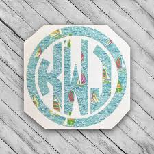 Monogram Decal Lilly Vinyl Sticker Personalized Monogramed Etsy In 2020 Monogram Decal Monogram Decal Stickers Monogram Vinyl Decal