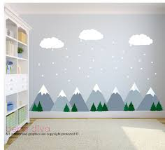 Mountain Wall Decals Wall Decals Nursery Nursery Wall Decal Etsy Baby Wall Decals Nursery Wall Decals Kids Wall Decals