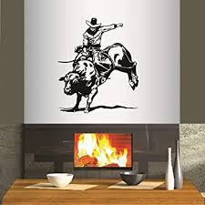 Wall Vinyl Decal Home Decor Art Sticker Rodeo Bull Rider Cowboy Western Sport Boy Man Any Room Removable Stylish Mural Unique Design 178 Amazon Com