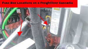 fuse box locations on a freightliner