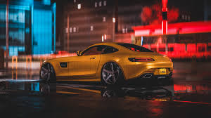 mercedes amg yellow 4k wallpapers