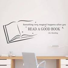 Read A Good Book Wall Quotes Decal Vinyl Wallsticker For Kids Room Mural Home Nursery School Library Classroom Bedroom Decorhl24 Wall Stickers Aliexpress