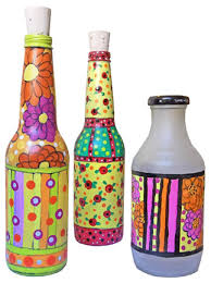 how to make doodled glass bottles go