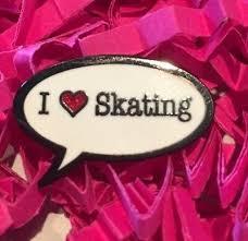 i love skating sch bubble pin badge