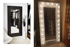 fascinating wooden full length mirror