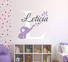 Amazon Com Personalized Elephant Hearts Name Wall Decal Elephant Baby Room Decor Nursery Wall Decals Hearts Wall Decal Vinyl Sticker Decalzone Inc Beauty