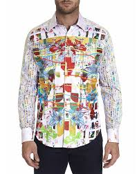 Robert Graham Tropic Victory Limited Edition Cotton Geo Print Classic Fit  Button-Up Shirt | Bloomingdale's