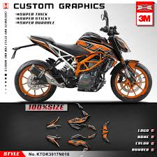 Kungfu Graphics Vehicle Decor Racing Bike Deco Sticker Custom Decal Kit Orange Aufkleber For Duke 390 2017 2018 2019 Decals Stickers Aliexpress
