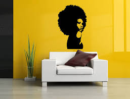 Amazon Com Wall Room Decor Art Vinyl Sticker Mural Decal Afro Girl Black Woman Head Poster Face As2687 Home Kitchen