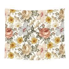 Peyton S Vintage Floral Printed Wall Tapestry Caden Lane