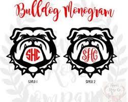 Georgia Bulldog Decal Uga Decal Georgia Bulldogs Yeti Monogram Etsy In 2020 Monogram Decal Georgia Bulldogs Georgia