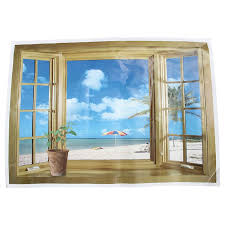 Tropical Fruit Basket 3d Window View Decal Wall Sticker Home Decor Art Mural