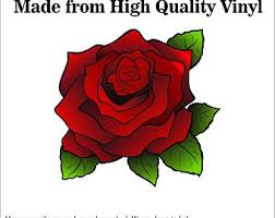 Red Rose Decal Etsy