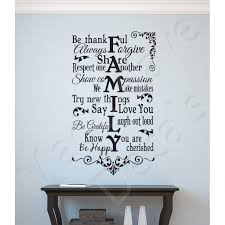 Wall Decal Family Be Thankful