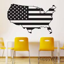 Usa Map Wall Sticker Map Of America Wall Decal 3d Modern American Map Wallpaper Decorating Modern Decor M38 Wall Sticker Map Sticker Mapusa Map Aliexpress