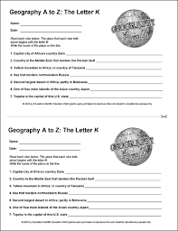 geography a to z the letter k