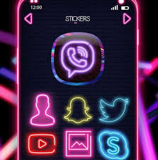 Get Glowing Neon Snapchat Logo With Black Background Gif