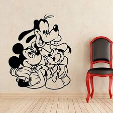 Disney Mickey Mouse Decal Removable Wall Sticker Home Decor Art Boys Girls Home Garden Children S Bedroom Girl Decor Decals Stickers Vinyl Art