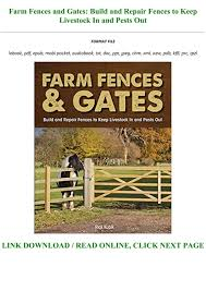 Bestsellers Read Book Pdf Farm Fences And Gates Build And Repair Fences To