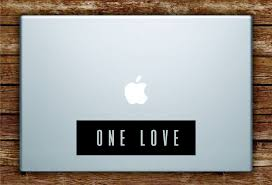 One Love Rectangle Laptop Apple Macbook Quote Wall Decal Sticker Art V Boop Decals