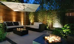 15 Superb Garden Fence Lighting Ideas Small Patio Garden Patio Design Small Patio Design
