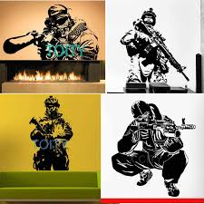 29 Designs Soldier Shooting Us Army Sniper Military Wall Art Decal Sergeant Sticker Die Vinyl Cut Transfer Mural Home Room Decor Room Decoration Wall Art Decalsvinyl Cutting Aliexpress