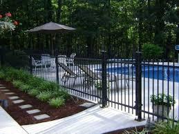 Image Result For Pool Fence Landscaping Backyard Pool Landscaping Inground Pool Landscaping Pool Fencing Landscaping