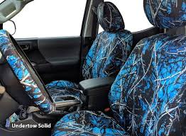 undertow blue camo seat covers black