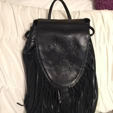 harley davidson leather fringe backpack