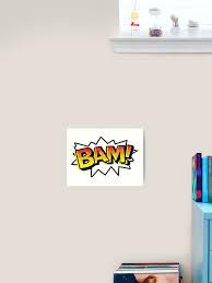 Bam Comic Onomatopoeia Art Print By Gtdesigns Redbubble