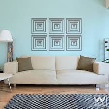Geometric Shapes Squares Vinyl Wall Decal Graphic Design For Boys Room Wallternatives