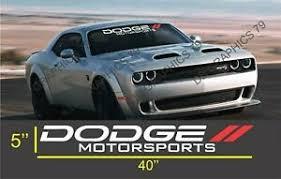Dodge Motorsports Challenger Charger Windshield Decal Sticker Vinyl Ebay