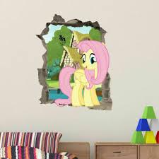 My Little Pony Fluttershy In Wall Kids Girls Bedroom Decal Wall Art Sticker Gift Ebay