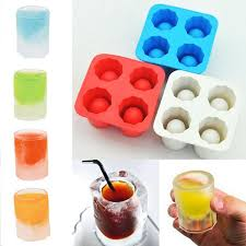 silicone 4 shot glass ice tray mold