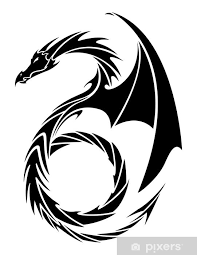 Vector Tattoo Dragon Sticker Pixers We Live To Change