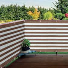 Outdoor Privacy Screen Balcony Deck Or Patio Fence Privacy Screen Brown White Walmart Com Walmart Com