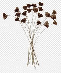 الزهور بتلة البني زهرة زخرفة الكرتون اليابانية زهرة ذابلة