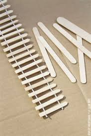 Image Result For Popsicle Stick Fence Popsicle Stick Houses Fairy Garden Furniture Craft Stick Crafts