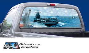Vehicle Graphics Rear Window Graphics Go Navy Custom Truck Or Suv Rear Window Graphic By Adventure Graphics