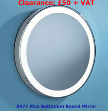 two bathroom mirror lights on at