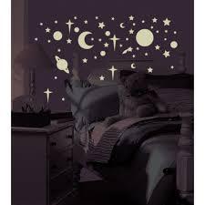 Roommates Glow In The Dark Celestial Stars Peel And Stick Wall Decals Walmart Com Walmart Com