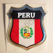 Sticker Peru Emblem 3d Resin Domed Gel Peru Flag Vinyl Decal Car Laptop Ebay