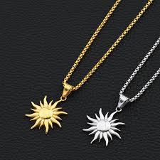jewelry sun pendant necklaces